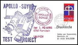 7597/ Espace (space) Lettre (cover) 15/7/1975 Launch APOLLO Soyuz (soyouz Sojus) Allemagne (germany Bund) - Lettres & Documents