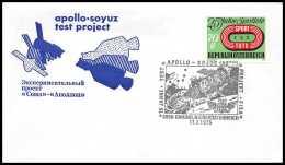 7629/ Espace (space) Lettre (cover) 17/7/1975 Fdc APOLLO Soyuz (soyouz Sojus) Project Link Up Autriche (Austria) - Cartas
