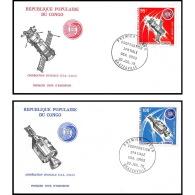 7640/ Espace (space Raumfahrt) Lettre (cover Briefe) 20/7/1975 Coopération Spaciale Usa Urss Fdc Congo - Cartas