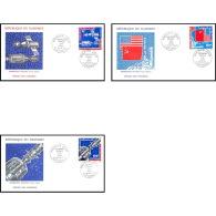 7642/ Espace (space Raumfahrt) Lettre (cover Briefe) 16/7/1975 Coopération Spaciale Usa Urss Fdc Dahomey - Lettres & Documents