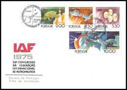 7707/ Espace (space Raumfahrt) Lettre (cover Briefe) 26/9/1975 Iaf Congresso Astronautica Portugal - Cartas
