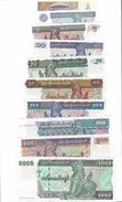 MYANMAR 50 PYAS - 1000 KYATS ND (1990-1998) ISSUES FULL SET P-68 69 70 71 72 73 74 75 76 77  UNC - Myanmar