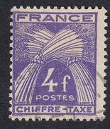 FRANCE Francia Frankreich -  1946 - CHIFFRE-TAXE Yvert 74, 4 F, Oblitéré - Portomarken