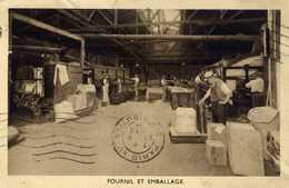 75 PARIS 15è Cie Française D´Echaudés.Rue Gager-Gabillot- Fournil Et Emballage Animé.Carte Commande.2 Scans - Arrondissement: 15