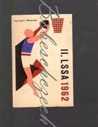 31-157 CZECHOSLOVAKIA 1962 Sport - Spartakiade Allied Army Of The Warsaw Pact - Basketball Baloncesto Basket-ball - Zündholzschachteletiketten