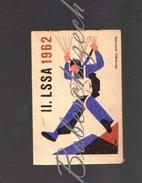 31-160 CZECHOSLOVAKIA 1962 Sport - Spartakiade Allied Army Of The Warsaw Pact - Parachuting Paracaidismo Parachutisme - Zündholzschachteletiketten