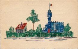 Timbres -Paysage - Timbres Découpés Et Collés - Aquarelle - Briefmarken (Abbildungen)