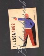 31-165 CZECHOSLOVAKIA 1962 Sport - Spartakiade Allied Army Of The Warsaw Pact - Shooting Sport Sport Pistol Tiro Deporti - Zündholzschachteletiketten
