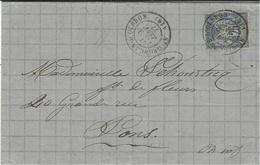 1877- Lettre De ST GEORGES-D'OLERON ( Char. Mar; ) Cad T17    Affr. Sage 25 C - Storia Postale