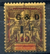 !!! GUADELOUPE : N°53h AVEC CHIFFRE 1 RENVERSE CASE 18 NEUF * - Unused Stamps