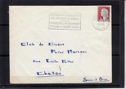 """SECAP """" L'ADMINISTRATION ..."""" Sur Lettre  De ALGER GARE  Le 5 9 1961 Pour CHATOU S.et.O.  PATHE MARCONI Club Du Disque - Algérie (1924-1962)"""