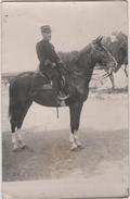 Carte Photo Militaria Officier à Cheval - Guerre 1914-18