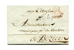 !!! MARQUE DE FRANCHISE MINISTRE DE LA GUERRE ET SCEAU SUR LETTRE SANS TEXTE DE 1797 - 1701-1800: Vorläufer XVIII