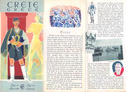 """05102 """"CRETE GRECE""""  DEPLIANT TURISTICO 1955 - Dépliants Turistici"""