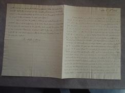 Lettre De La Villatelle De Murat - Lille Octobre 1822 - à Joseph François De Kergariou (pair De France) - Documents Historiques