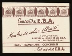 Buvard -  Concentre E.B.A. - Peintures