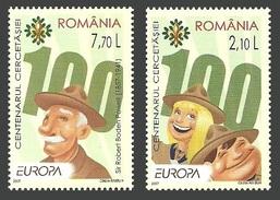 ROMANIA 2007 EUROPA SCOUTS SCOUTING SET MNH