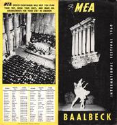 "05106 ""M.E.A. - BAALBECK 1960 - INTERNATIONAL FESTIVAL - LIBANO"" DEPLIANT PUBBLICITARIO - Dépliants Turistici"