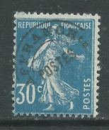 France  Préoblitéré N° 60 XX  Type Semeuse Fond Plein : 30 C. Bleu  Sans Charnière, TB - Precancels