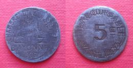 BAYONNE CHAMBRE COMMERCE 5 C 1917 Fautée 2 Frappes + 10 C Monnaie Nécessité France - Monetary / Of Necessity