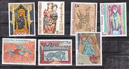 Andorre 264 271 278 290 297 305 325 2 1/4 De Cote Fresques Sculptures Romanes Neuf ** TB MNH Sin Charnela Cote 13 - Ongebruikt