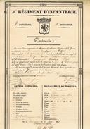 CARTOUCHE Regiment D'infanterie    Habitant De Gemmenich Delivre à Arlon - Documents
