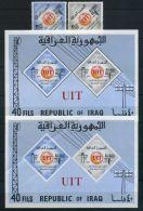 IRAK ( POSTE ) : Y&T  N°  413/414  +  BLOC  N° 7  ET  N° 7  N D ,  NEUFS  SANS  TRACE  DE  CHARNIERE , A  VOIR . - Iraq