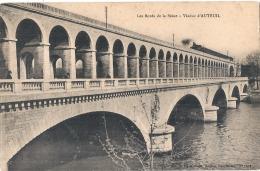 -75- PARIS Les Bords De La Seine Viaduc D'Auteuil - Train Vapeur TTBE - The River Seine And Its Banks
