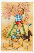BONNE FETE - CARTE FORMAT CPA VOYAGEE - 75 - Holidays & Celebrations