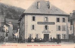 "05112 ""QUEYRAS - ABRIES - PLACE DU GLACIS - HOTEL CARLHIAN"" ANIMATA. CART SPED 1907 - Autres Communes"