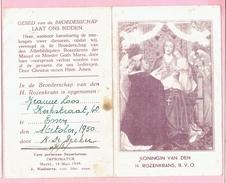 Bidprentje - KONINGIN VAN DEN H. ROZENKRANS, B. V. O. - Jeanne LOOS Kerstraat,60 ESSEN - 1950 - Imágenes Religiosas