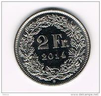 ZWITSERLAND  2 FRANCS  2014 B - Zwitserland