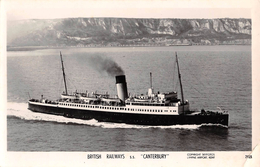 "05116 ""S.S. CANTERBURY - BRITISH RAILWAYS - COSTRUITA 1928 TONN 2910"". CART NON SPED - Banche"
