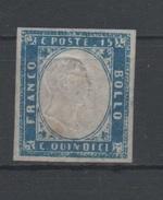 1863 Effigie Vittorio Emanuele II 15 C. Non Dentellato MLH - Usati