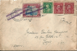 - Enveloppe  - Cachet Au Départ De LOS ANGELES  ( U.S.A )   EN  1920   à  Destination De  PARIS      £ - Amérique Centrale