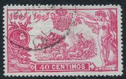 Edifil 262, Quijote 40 Cts Rosa En Usado, Centraje De Lujo - Gebraucht