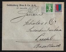 PRO JUVENTUTE → Brief Goldberg Bros & Co. A.-G. ST.GALLEN ►SBK-125 Typ3 & J17, LIESTAL 4.II.21◄ - Pro Juventute