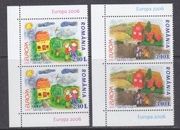 Europa Cept 2006 Romania 2v (pair)  ** Mnh (34042) - 2006