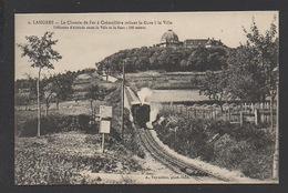 DF / 52 HAUTE MARNE / LANGRES / LE CHEMIN DE FER À CRÉMAILLÈRE RELIANT LA GARE À LA VILLE / CIRCULÉE EN 1918 - Langres