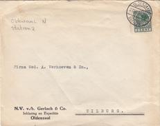 Envelop 27 Jun 1939 Oldenzaal Station 2 (typerader Langebalk) - Poststempels/ Marcofilie