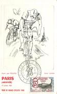 TOUR DE FRANCE CYCLISTE 1960 - Carte Illustrée Par Foujita. (carte Numérotée). - Radsport