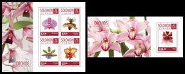 SOLOMON Isl. 2014 - Orchids - CV = 27 € - Solomon Islands (1978-...)