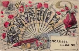 31 - HAUTE GARONNE / Encausse Les Bains - Belle Fantaisie - Eventail - Autres Communes