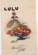 N° 73 : BONNE FÊTE : 2 Scans : Femme Des Années 1800 , Tulipes - Holidays & Celebrations