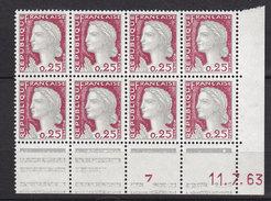 FRANCE 1263 MARIANNE DE DECARIS BLOC DE 8  CD 11 7 63 LUXE NEUF SANS CHARNIERE - 1960 Maríanne De Decaris
