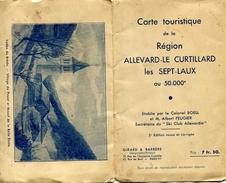 Savoie - Carte Touristique Région : ALLEVARD - LE CUTILLARD - LES SEPT LAUX Par Le Colonel BOELL  Vers 1928 - Alpes - Pays-de-Savoie