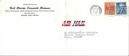 Enveloppe -Cachet Au Départ  De   NEWPORT ,  VIRGINIE (  U.S.A. )   à  Destination  De  PARIS   Et  Par Avion        £ - Amérique Centrale