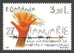 ROMANIA 2007 INTERNATIONAL HOLOCAUST REMEMBRANCE DAY MILITARY WAR SET MNH