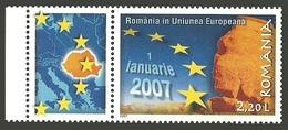 ROMANIA 2007 ACCESSION TO EUROPEAN UNION ART ARCHEAOLOGY SPHINX SET MNH