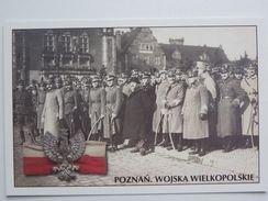 Pilsudski And Chef Of Wielkopolska Army Dowbor Musnicki Poznan 1919 Year  /Poland Army 1918-39 / Reproduction - Personaggi